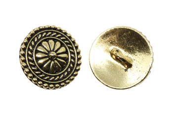 Bali Button - Gold Plated