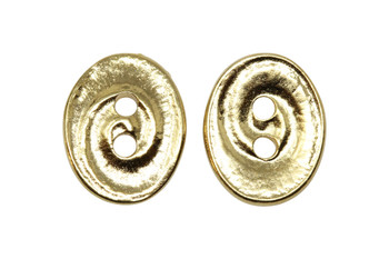 Swirl Button - Gold Plated