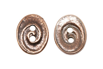 Swirl Button - Copper Plated