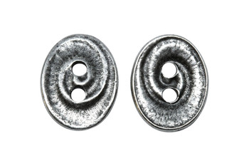 Swirl Button - Antique Pewter