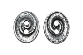 Swirl Button - Antique Pewter