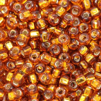 Size 8 Miyuki Seed Beads -- 4A Dark Gold / Silver Lined