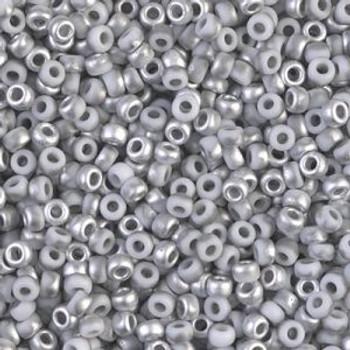 Size 8 Miyuki Seed Beads -- 4558 Magic Grey-Silver