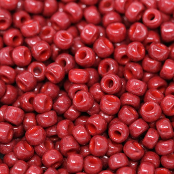 Size 8 Miyuki Seed Beads -- 407A Opaque Brick Red
