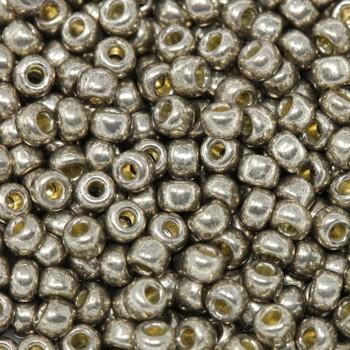 Size 8 Miyuki Seed Beads -- D4222 Duracoat Galvanized Pewter