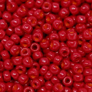 Size 8 Miyuki Seed Beads -- 408C Opaque Dark Red