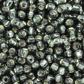 Size 8 Toho Seed Beads -- 21B Black Diamond / Silver Lined