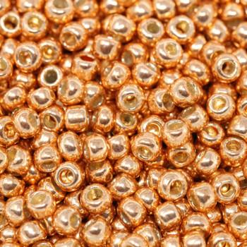 Size 8 Miyuki Seed Beads -- P481 Galvanized Rose Gold