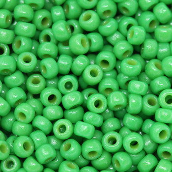 Size 8 Miyuki Seed Beads -- D4476 Duracoat Opaque Shamrock Green