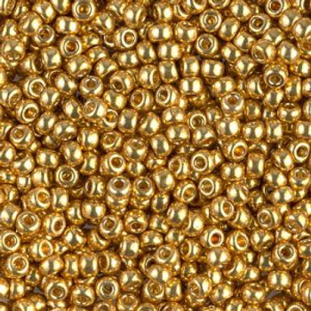 Size 8 Miyuki Seed Beads -- D4202 Duracoat Galvanized Gold