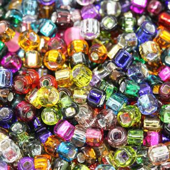 Size 8 Miyuki Seed Beads -- Silver Lined Mixed
