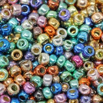 Size 8 Miyuki Seed Beads -- Galvanized Funfetti