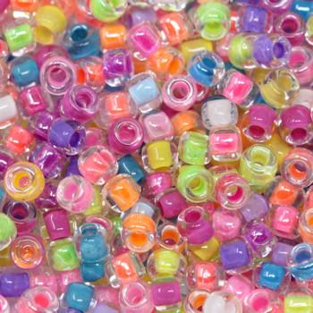 Size 8 Miyuki Seed Beads -- Neon Mix