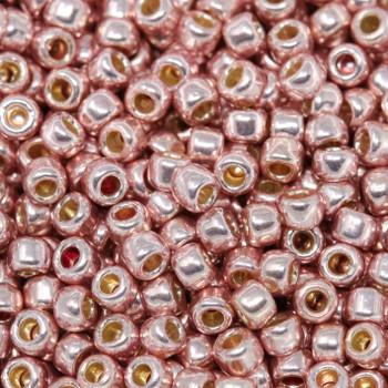 Size 8 Toho Seed Beads -- P475 Galvanized Light Pink