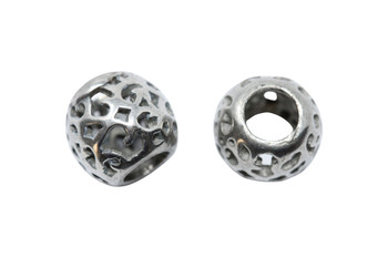 Stainless Steel 8x9.5mm Open - Large Hole