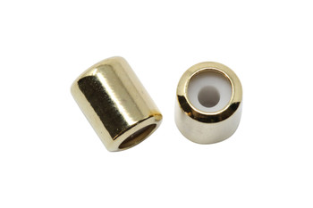 Silicone Barrel Bead - 7mm Gold