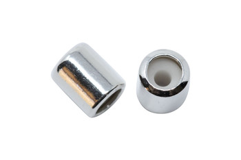 Silicone Barrel Bead - 7mm Silver
