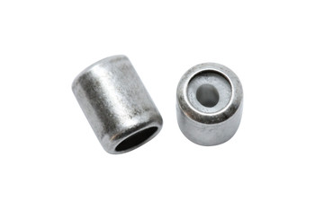 Silicone Barrel Bead - 7mm Antique Silver