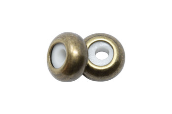 Silicone Rondel Bead - 8x4mm Antique Bronze