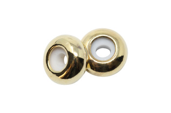 Silicone Rondel Bead - 8x4mm Gold