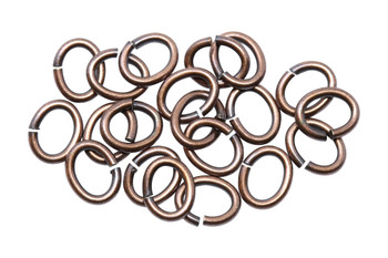 Copper Plated Large Oval OPEN Jump Rings - 20 Pieces