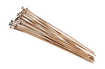 """Antique Copper 1.5"""" Long 24 Gauge Head Pins - 20 Pieces"""