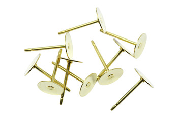 Gold Tone 6mm Glue On Posts - 10 Pieces