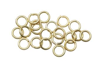 Satin Hamilton Gold 4mm Round 21 Gauge OPEN Jump Rings - 20 Pieces