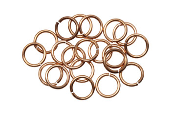 Copper 8mm Round 18 Gauge OPEN Jump Rings - 20 Pieces