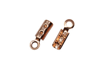 Copper Plated 1mm Crimp Ends - 10 Pieces