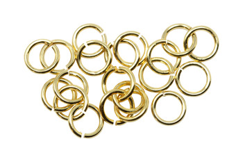 Gold Plated 4mm Round 20 Gauge OPEN Jump Rings - 20 Pieces
