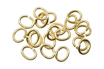 Gold Plated Medium Oval OPEN Jump Rings - 20 Pieces