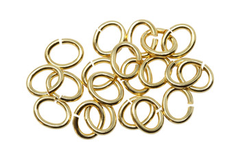 Gold Plated Large Oval OPEN Jump Rings - 20 Pieces