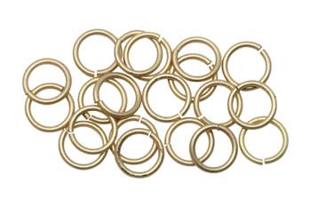Satin Hamilton Gold 8mm Round 18 Gauge OPEN Jump Rings - 20 Pieces