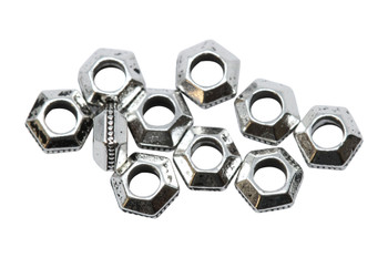 Silver Plated 5mm Faceted 2mm Hole Bead - 10 Pieces
