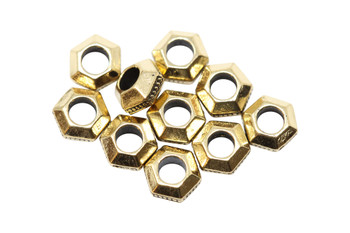 Gold Plated 5mm Faceted 2mm Hole Bead - 10 Pieces