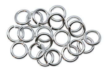 Rhodium Plated 7.5mm Round 16 Gauge OPEN Jump Rings - 20 Pieces