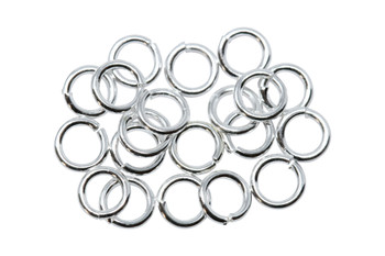 Silver Plated 4mm Round 21 Gauge OPEN Jump Rings - 20 Pieces