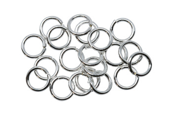 Silver Plated 6mm Round 21 Gauge OPEN Jump Rings - 20 Pieces