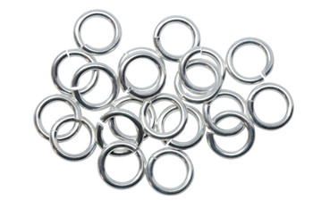 Silver Plated 7.5mm Round 16 Gauge OPEN Jump Rings - 20 Pieces