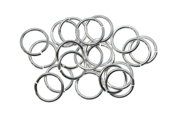 Silver Plated 10mm Round 18 Gauge OPEN Jump Rings - 20 Pieces