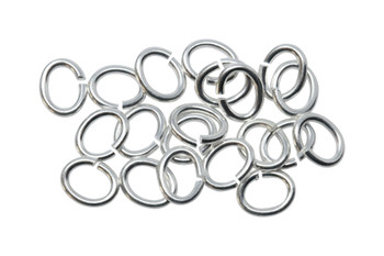 Silver Plated Large Oval OPEN Jump Rings - 20 Pieces