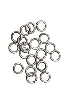 Antique Silver 3mm 22 Gauge OPEN Jump Rings - 20 Pieces