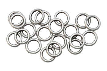 Antique Silver 6mm 18 Gauge CLOSED Jump Rings - 20 Pieces