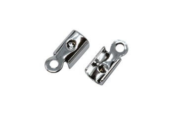 Nickel Plated 1.5mm Crimp Ends - 10 Pieces