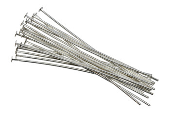 "Silver Plated 2"" Long 20 Gauge Head Pins - 20 Pieces"