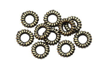 Coil Spacers Brass Plated - 10 Pieces