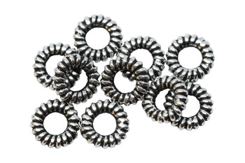 Coil Spacers Silver Plated - 10 Pieces