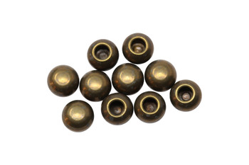 Brass Plated 2mm Leather Decorative Glue On Ends - 10 Pieces