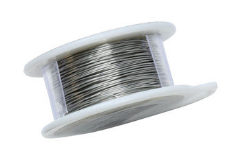 26 Gauge Craft Wire 15 Yards - Brushed Silver